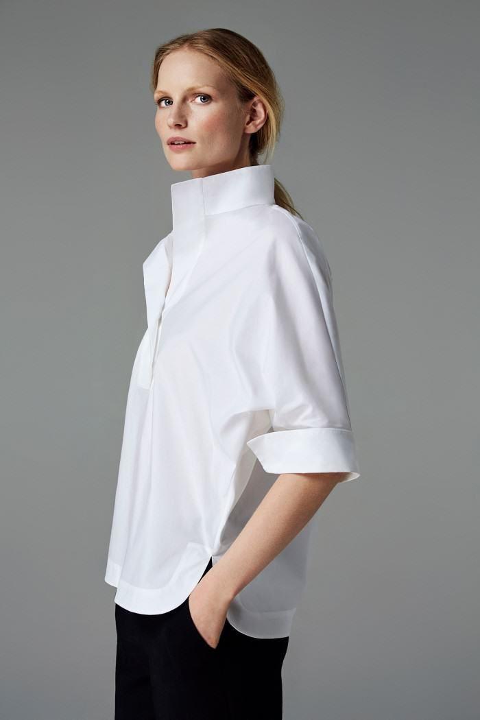 c0e66c75801919 CH Carolina Herrera Woman - White Shirt Collection - Fall 2016   lè ...