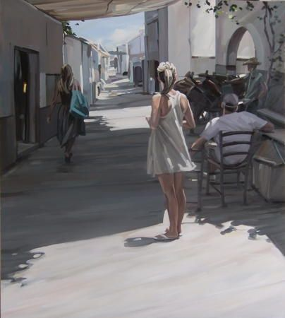 Girl in Street, Lindos by JIM FARRANT