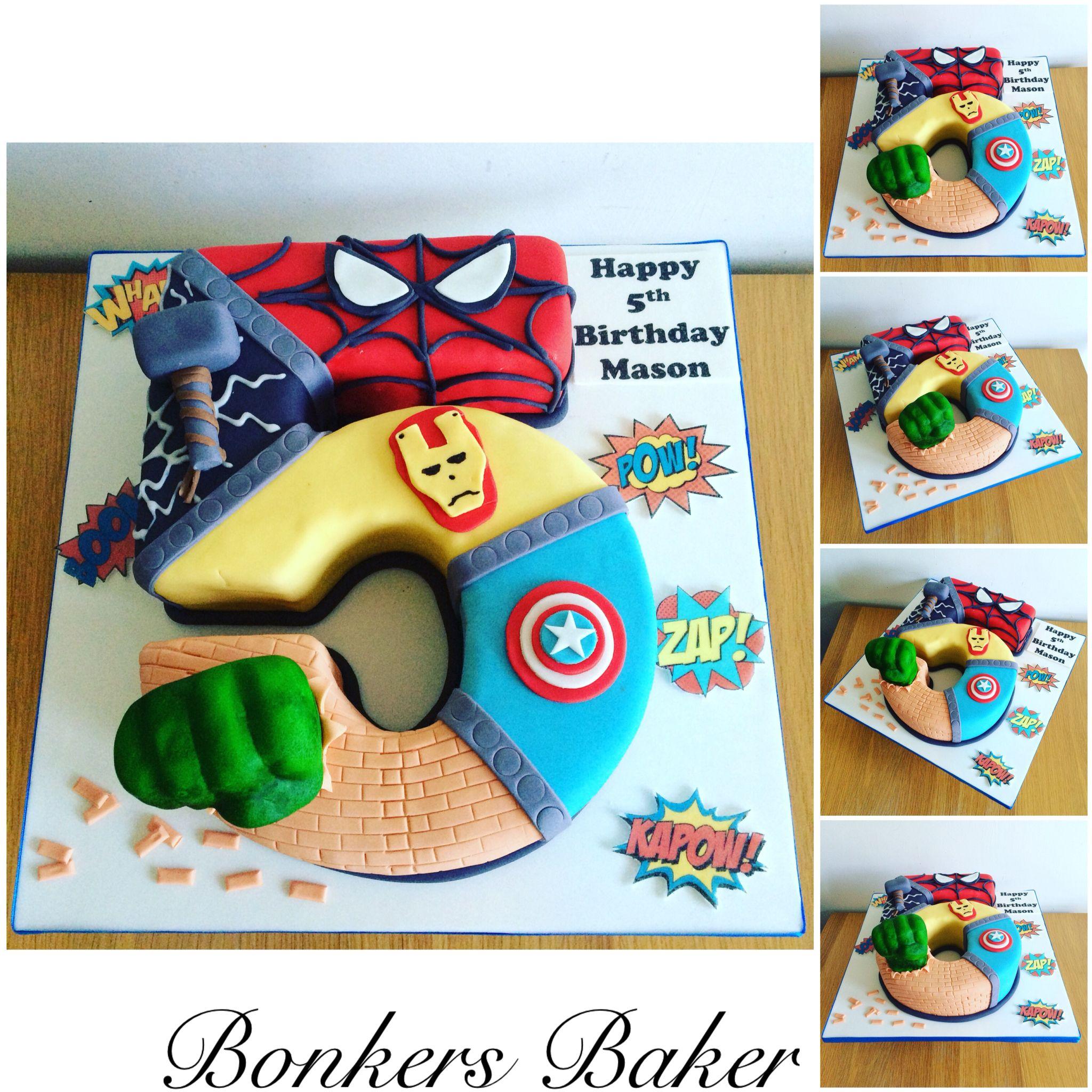 Superhero Avengers Number 5 Cake With Images Superhero