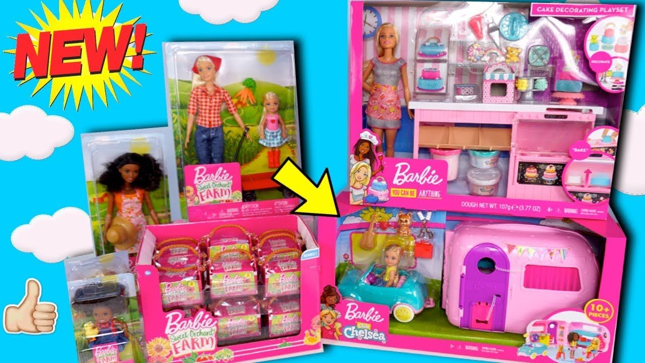 NEW Barbie Toy Unboxing Chelsea Car & Camper Bunk Beds ...