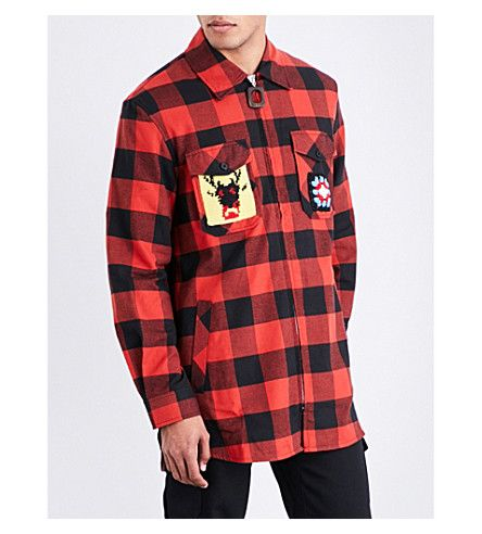 J.W.ANDERSON Lumberjack-Patch Flannel Shirt. #j.w.anderson #cloth #shirts