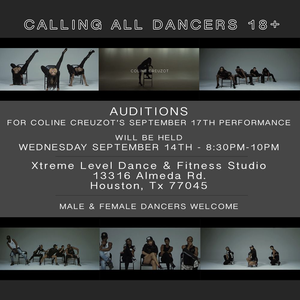 Calling all dancers: Open auditions will be held TONIGHT for the Houston Black Heritage Festival! 👯  #HBHF #Houston #ColineCreuzot #Dance 💜