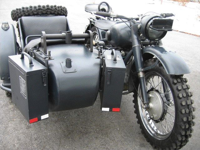 1944 M 72 Soviet Wartime Military Motorcycle With Side Car