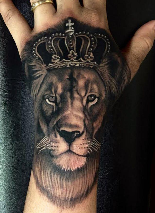 Pin By Grzegorz B On Tattoo Tattoos Lion Hand Tattoo Hand Tattoos Hand Tattoos Pictures