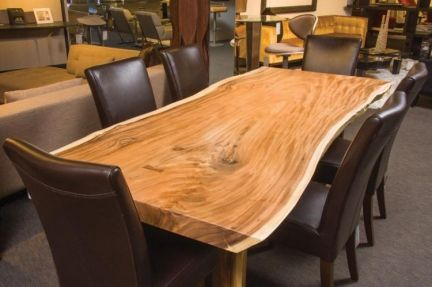 Letting the gorgeous wood dictate its form, this Forma dining table is the epitome of organic #design.