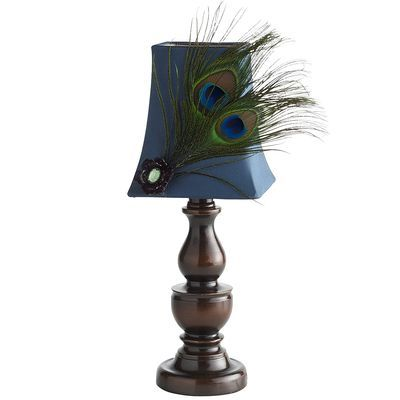 Peacock Feather Mini Lamp  Gonna have to get this lovely lamp for my mom :)