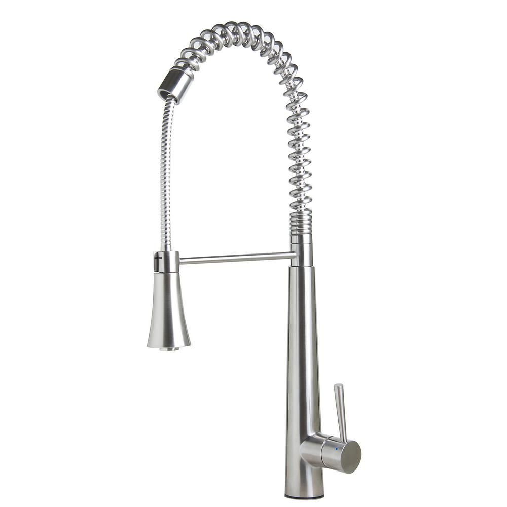 Alfi Brand Single Handle Pull Down Sprayer Kitchen Faucet In