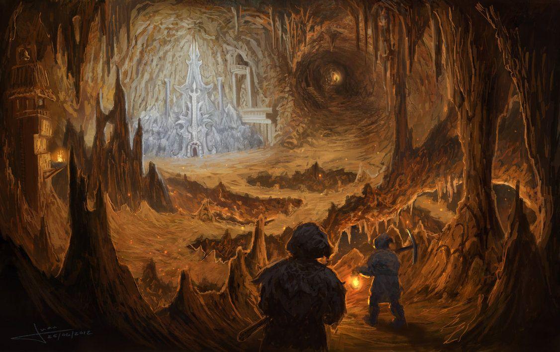 entrance to dwarven city | Land of Arith | Fantasy art, Geek