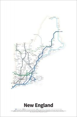 A simplified road map of every Interstate Highway and U.S. Route in ...