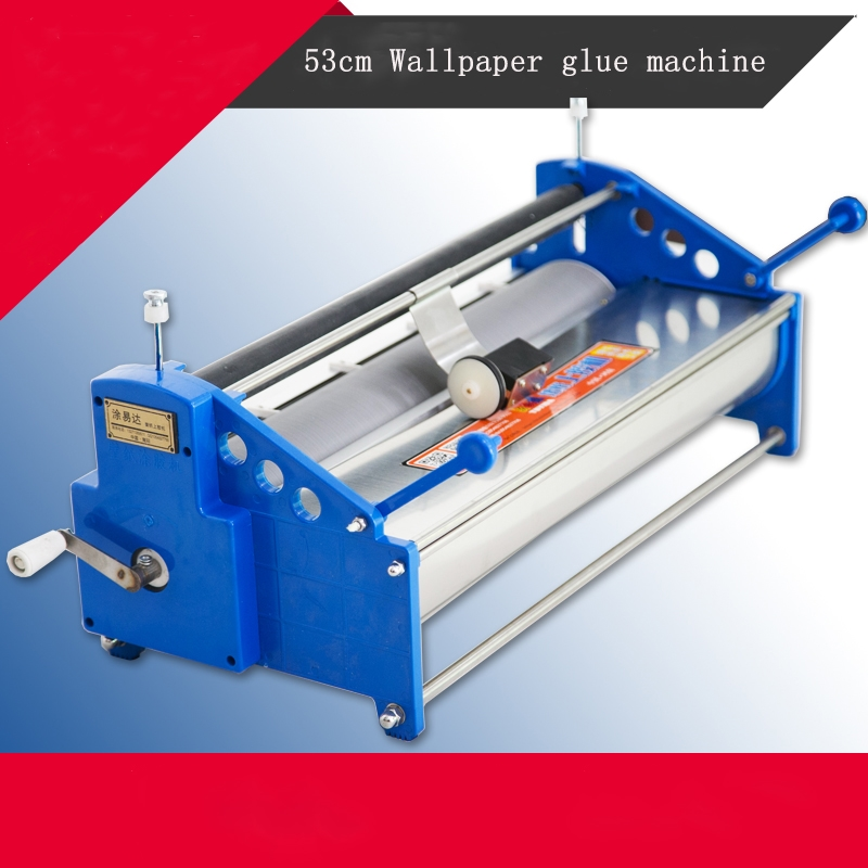362.00$  Buy now - http://ali5il.worldwells.pw/go.php?t=32687423702 - Manual 53cm Wallpaper glue coating machine coater Wallpaper Paste,cementing,gumming,starching,gluing machine