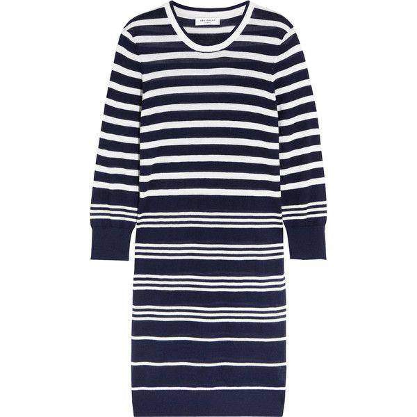 Equipment - Marta Striped Silk And Cashmere-blend Sweater Dress (370 BRL) ❤