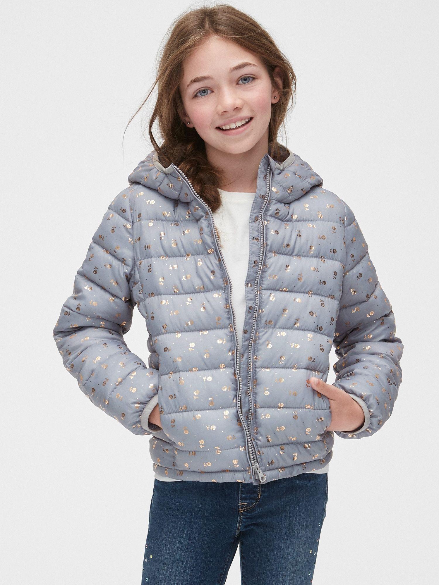 Floral Puffer Jacket Gap Old Navy Gap Girls Jacket Fashion [ 2000 x 1500 Pixel ]