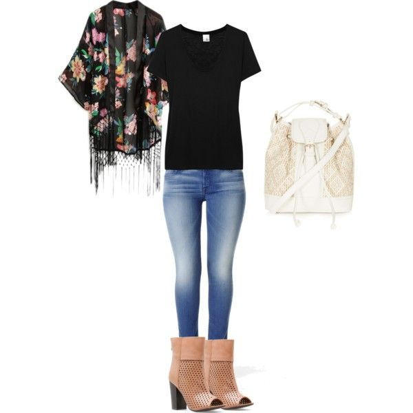Casual Style With Fringed Kimono Style Fashion Outfits