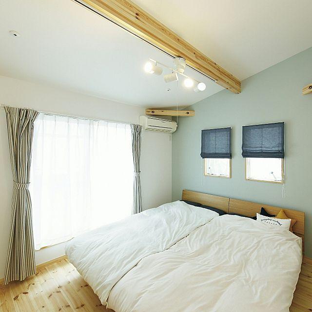 ベッド周り ニトリのベット 無印カーテン カリフォルニアスタイル