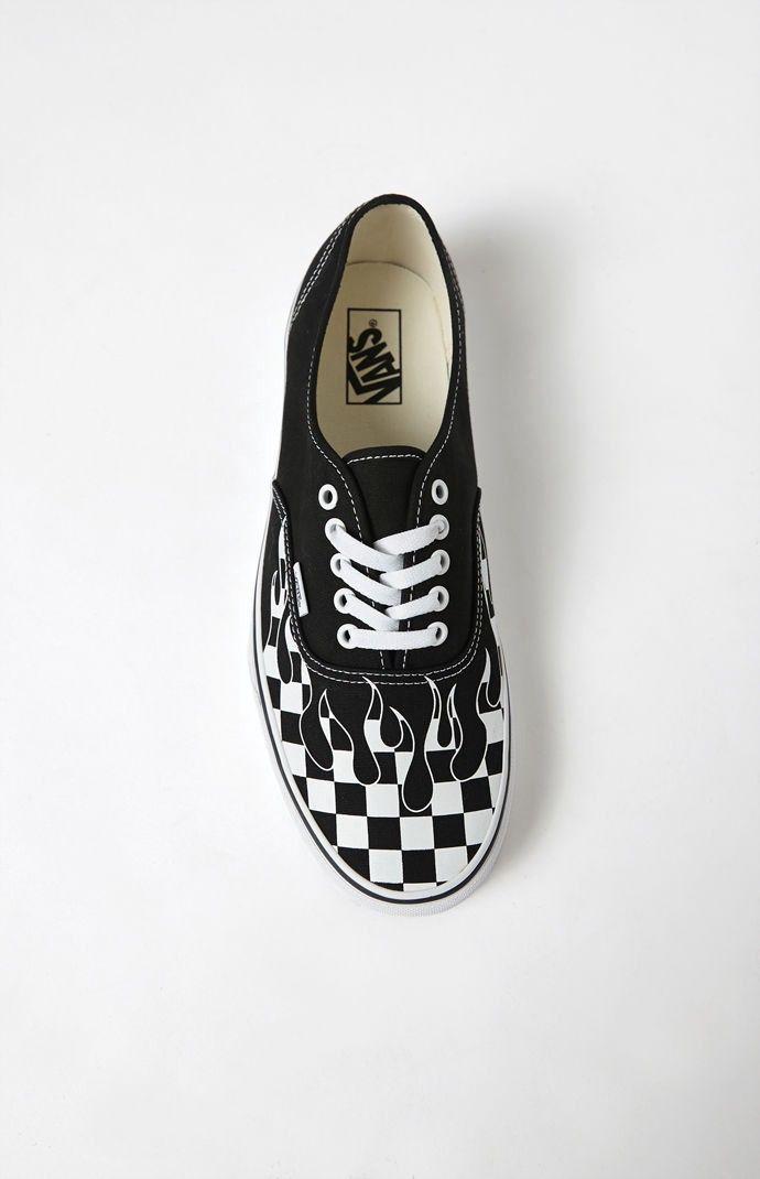 71fcdf7860 Vans Checker Flame Authentic Shoes - 10.5