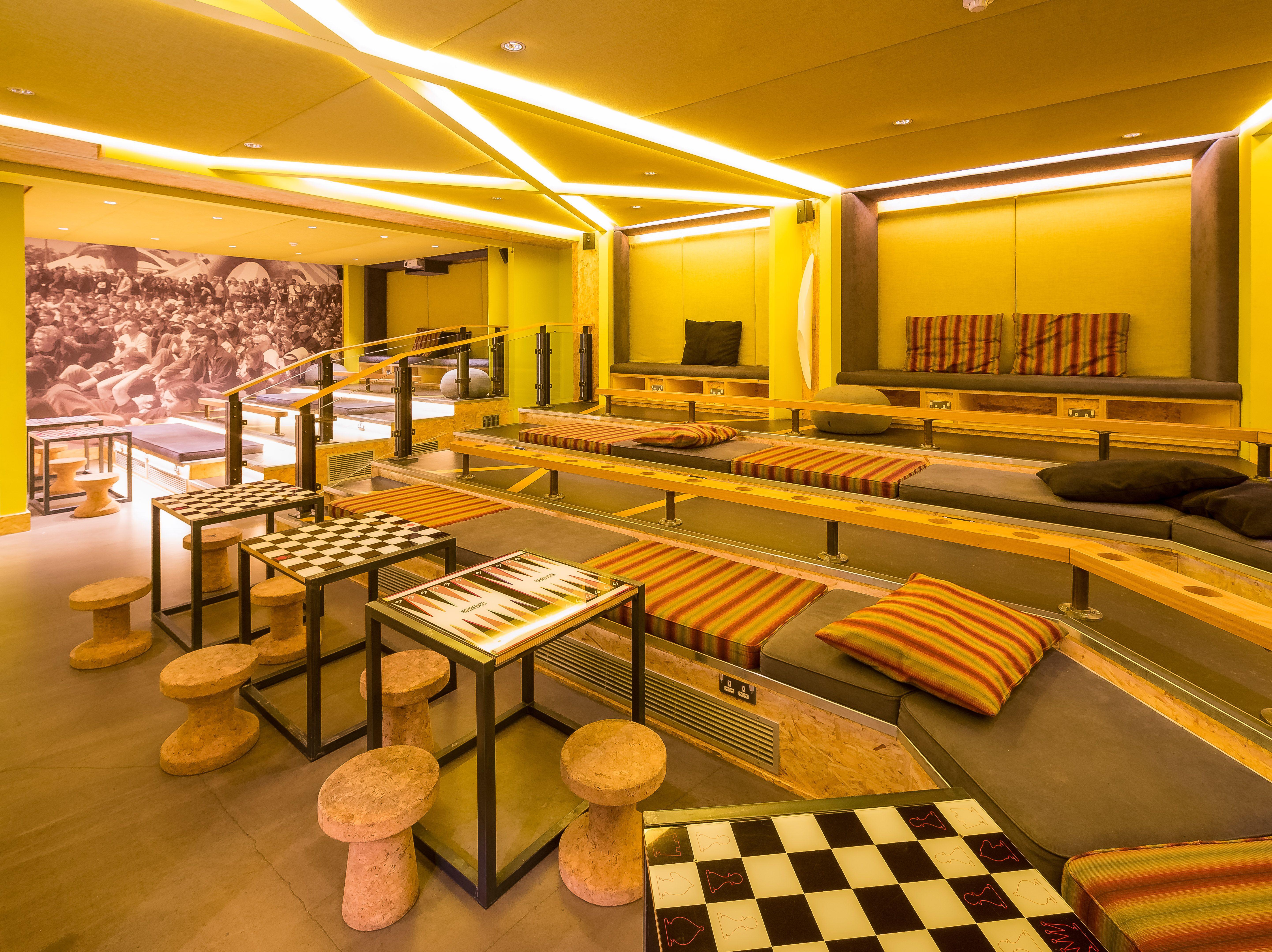 east london sofa cinema flexsteel sleeper air mattress lounge and room at generator hostel