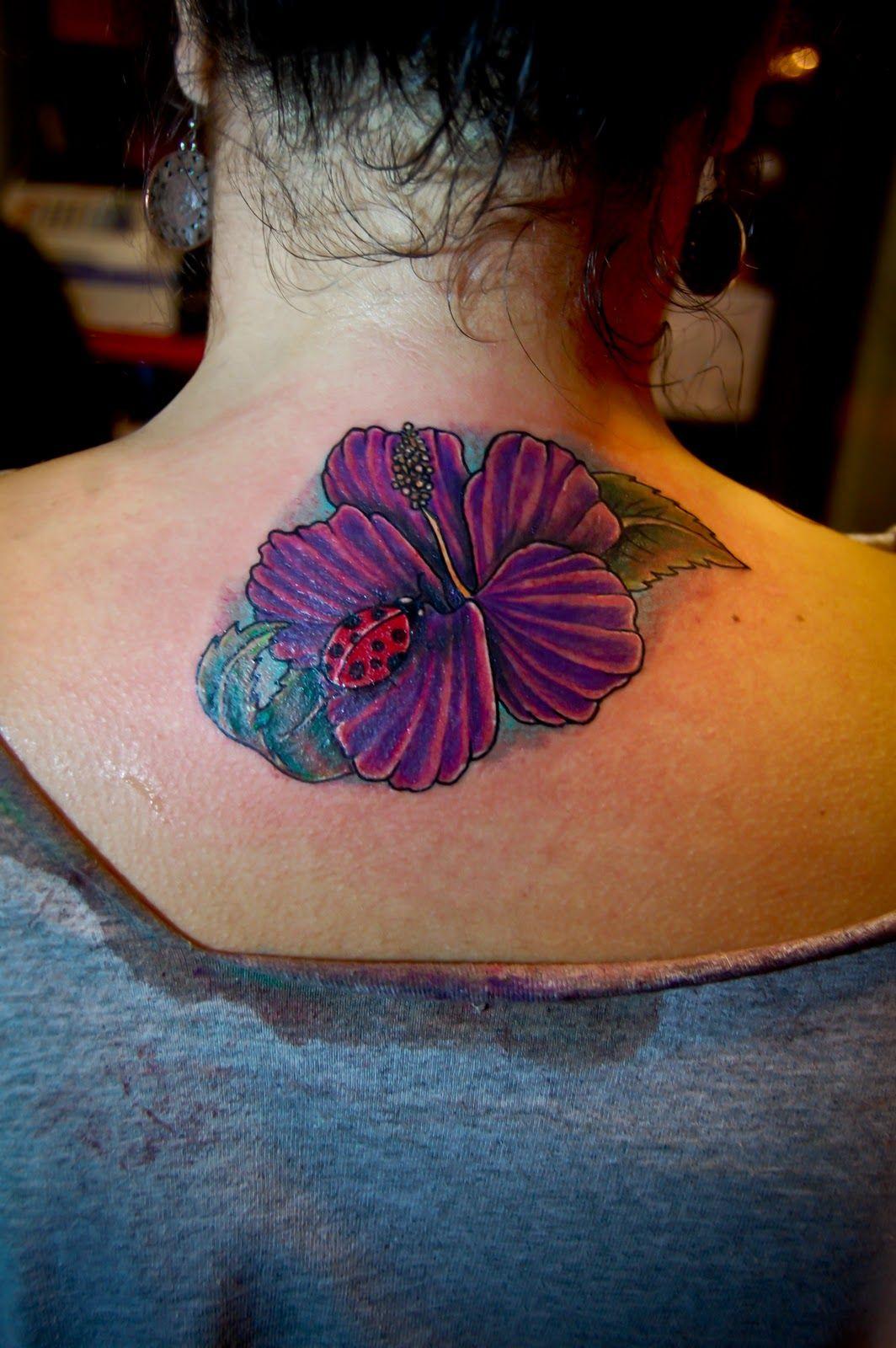 Alternativ Hibiscus Flower Ladybug Tattoo Lady Bug Tattoo Purple Tattoos Hidden Tattoos