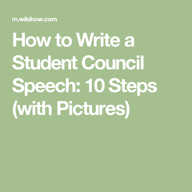 Write A Student Council Speech  Student Council Speech Students