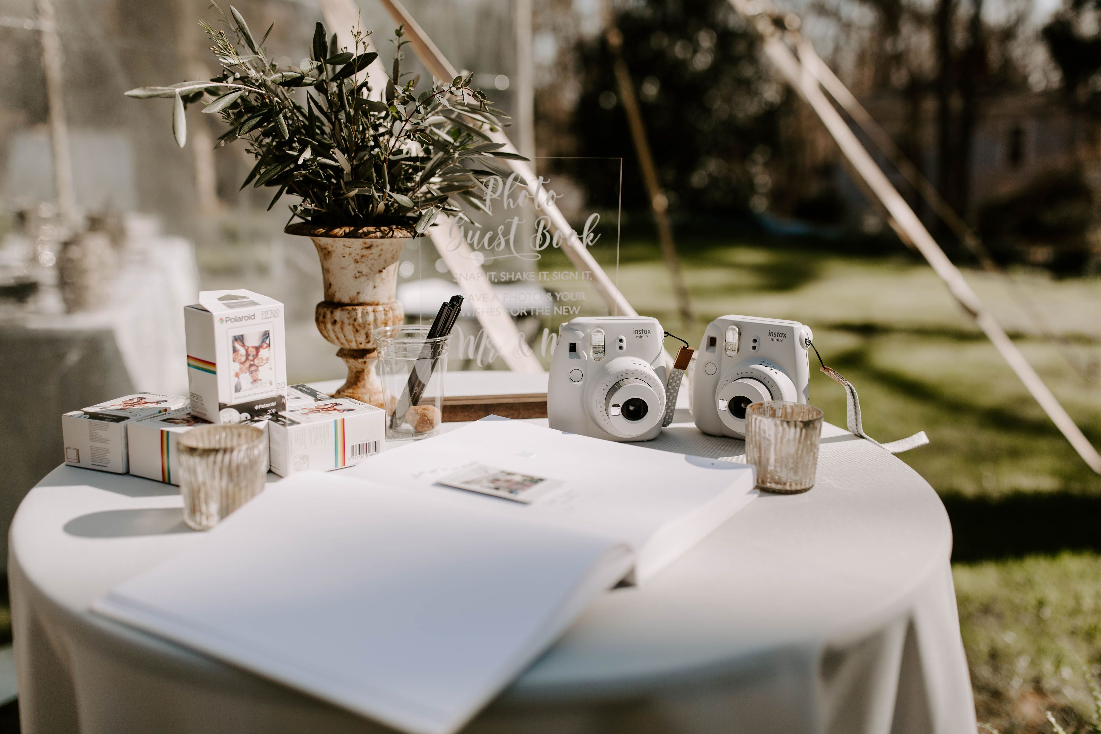 Wedding Polaroid Station Table Decorations Decor Wedding