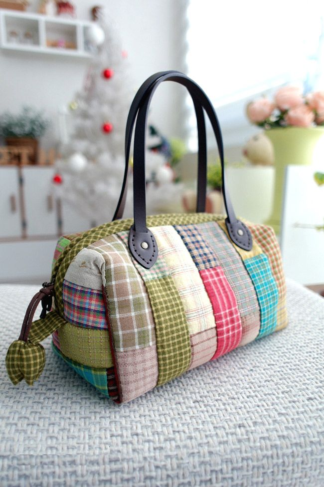 Patchwork Boston Bag. Photo Sewing Tutorial. Step by step ...