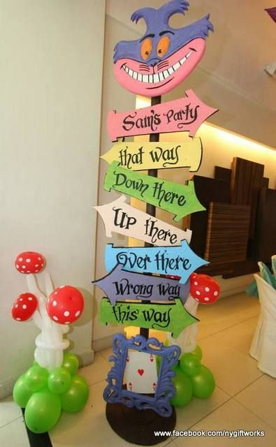 Alice In Wonderland Birthday Party Ideas Decoracao Alice No Pais
