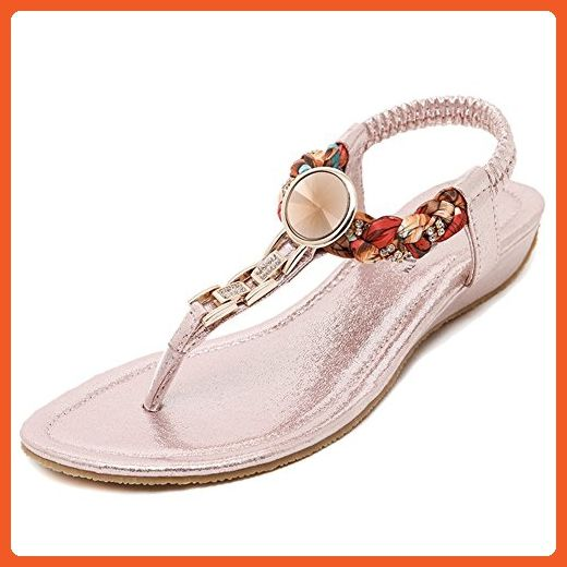 5a8cf17ba296aa Btrada Women Fashion Cz Bohemia Flat Sandals T strap Dress Sandals - Sandals  for women ( Amazon Partner-Link)