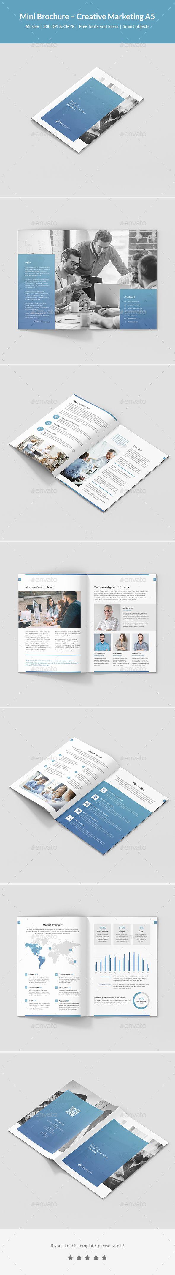 Mini Brochure Creative Marketing A5 Brochures Brochure Template