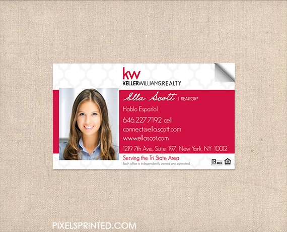 Kw Business Card Sticker Realtor Business Cards Real Estate Agent Business Cards Keller Williams Business Cards