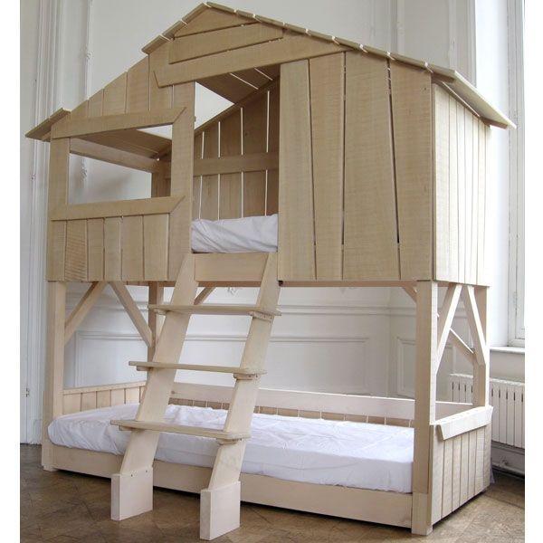 Lit cabane enfant superposé en Tilleul - Mathy by Bols - Lits superposés - Meubles enfant - Mobilier enfant sur Ma Chambramoi, boutique en ligne enfant