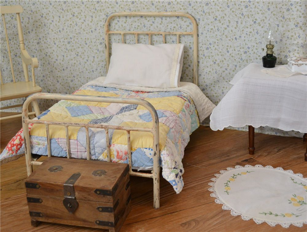 American Girl Bed Doll Bed Victorian Style Antique Iron