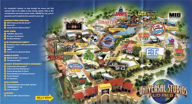 Universal Orlando Florida Map.Universal Studios Orlando Map Maps In 2019 Universal Studios