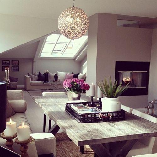 pinterest @ nandeezy \u2020 The best coffee tables home design ideas - küche in dachschräge