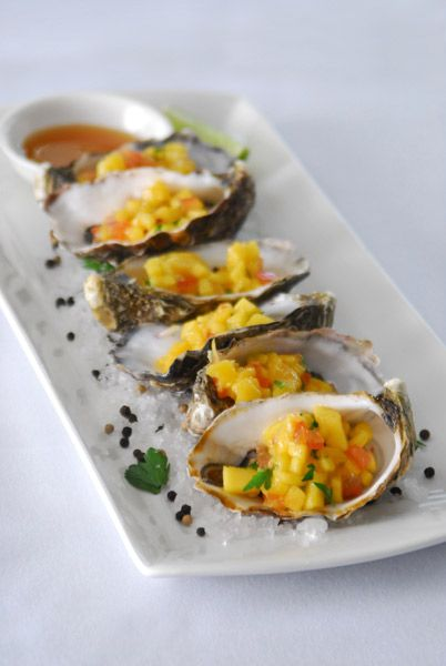 Oysters, Entree for Mt Ommaney Hotel Apartments, Charlton Hotels #taybiandesign