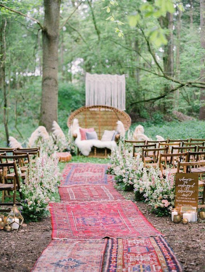Eine Hochzeit im Hinterhof ist Ihre Ausrede, um den Indie-Shindig zu schmeißen, von dem Sie immer geträumt haben   – Bohemian Boho Wedding Inspiration