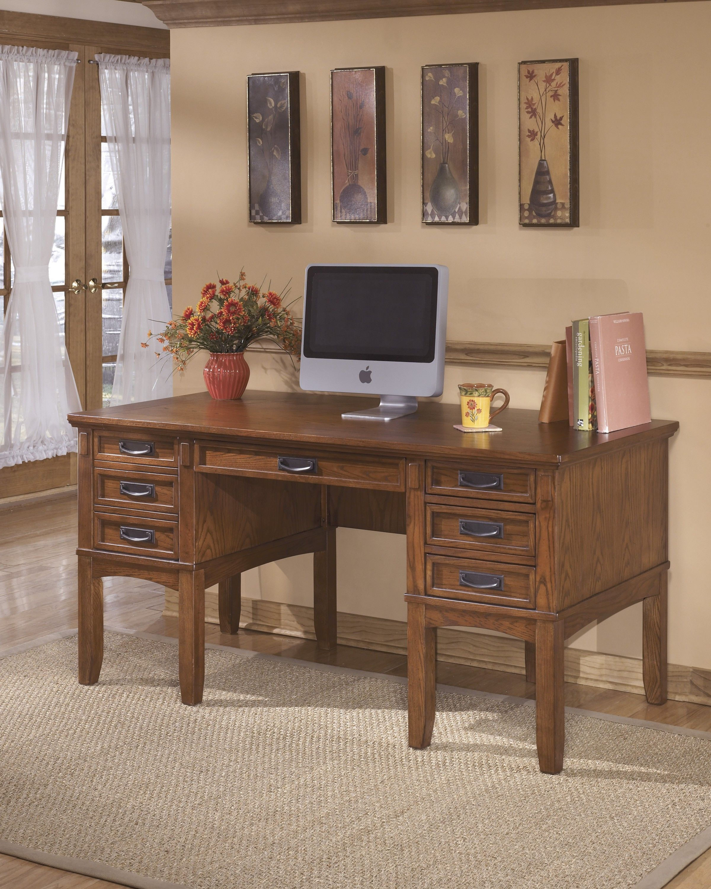 Signature Design By Ashley Cross Island Home Office Storage Desk Home Office Storage Office Desk Home Office Furniture