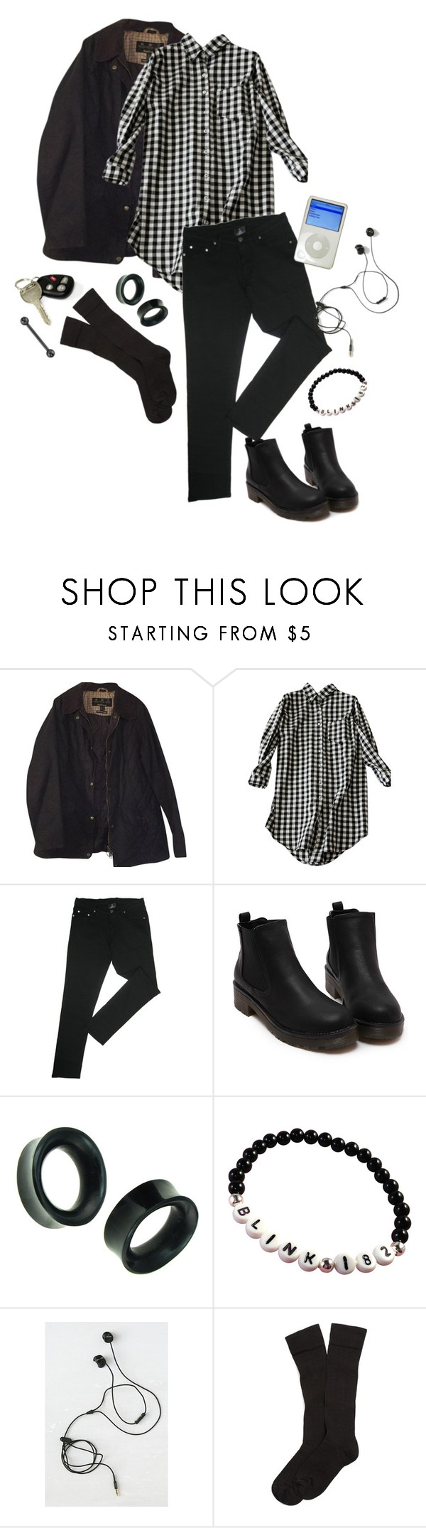 """""""Driving at Night"""" by superlivie003 ❤ liked on Polyvore featuring Barbour, Marshall and Brooks Brothers"""