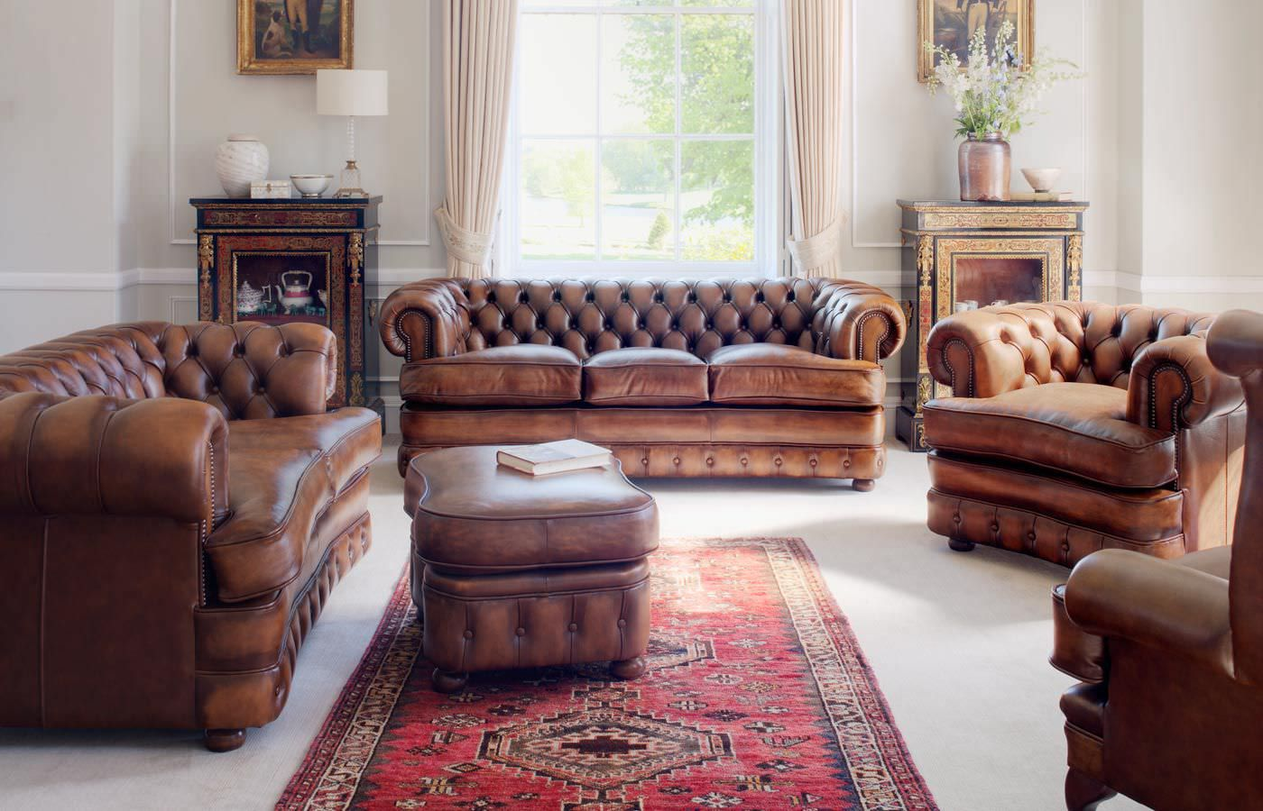 Rustic Leather Living Room Furniture Gaming Pc Build Chesterfield Sofa Set 9600 6105969 Design