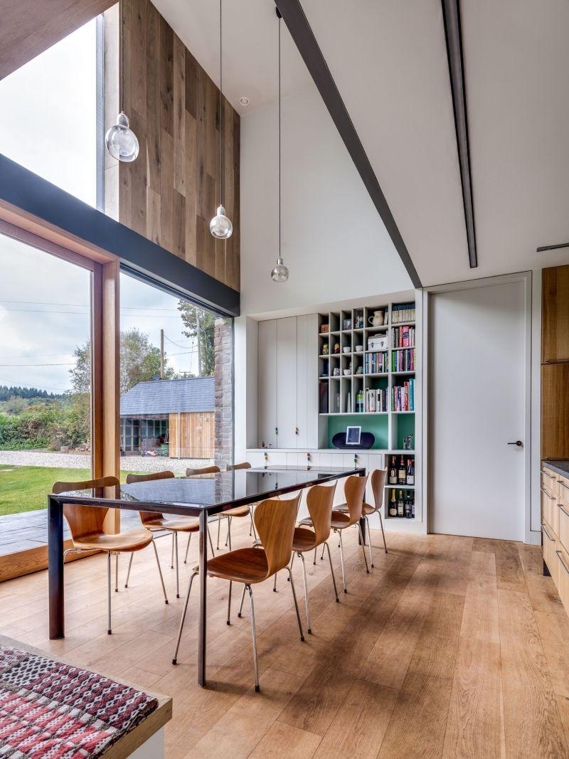 holz boden und decke modern interieur, landhaus stil -moderne-architektur-einrichtung-essbereich-holzboden, Design ideen