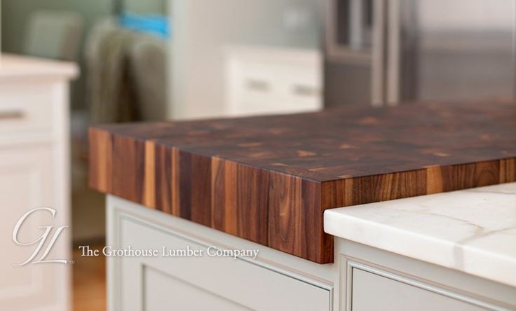 Island With Half Moon Butcher Block Top Kitchen Island Butcher Block Cou Butcher Block Island Kitchen Farmhouse Kitchen Design Butcher Block Countertops