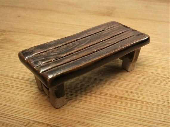Phenomenal Fairy Furniture Miniature Ceramic Fairy Garden Bench Spiritservingveterans Wood Chair Design Ideas Spiritservingveteransorg