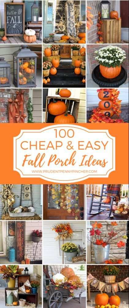 Photo of 50 Cheap and Easy DIY Outdoor Fall Decorations #herbstdekoration 50 Cheap and Ea…
