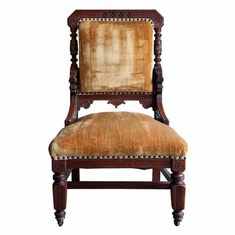 Beau 1stdibs   Anglo Indian Style Library Or Fireplace Side Chair Explore Items  From 1,700 Global Dealers