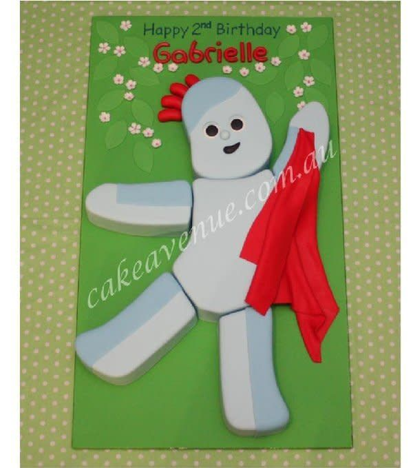 2d Iggle Piggle Cake Based On The Character From The Uk Kids Tv Show In The Night Garden He Meas Garden Birthday Cake Boy Birthday Parties Baby Boy Birthday