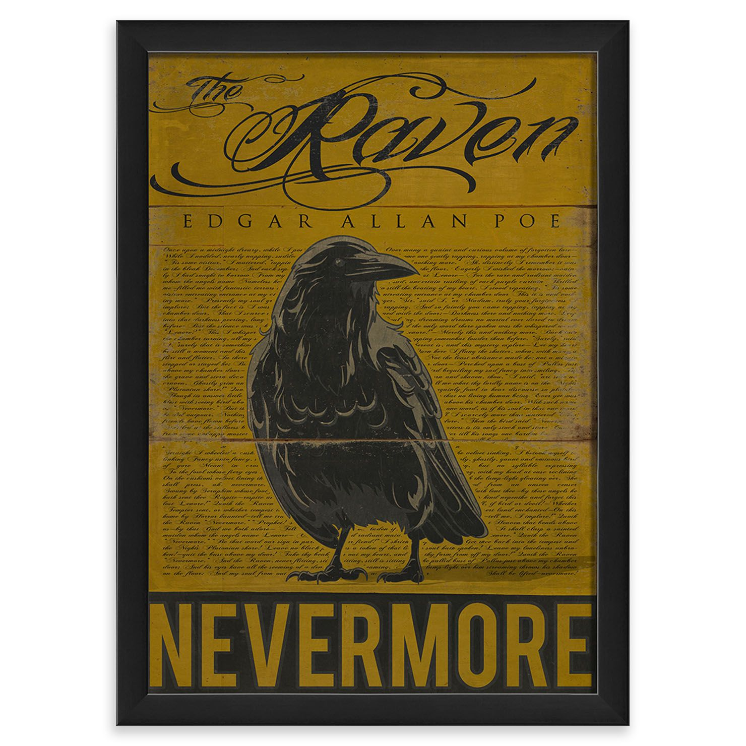 ACHICA | The Interior Art Collection- the Raven, Framed Wall Art ...