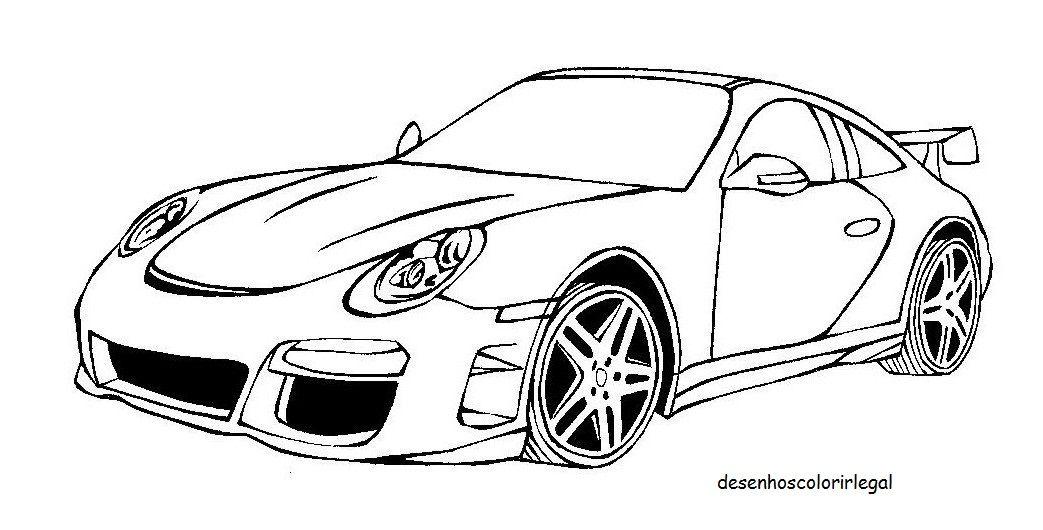 Desenhos Colorir Legal Desenho De Carro Tunado Porsche Para
