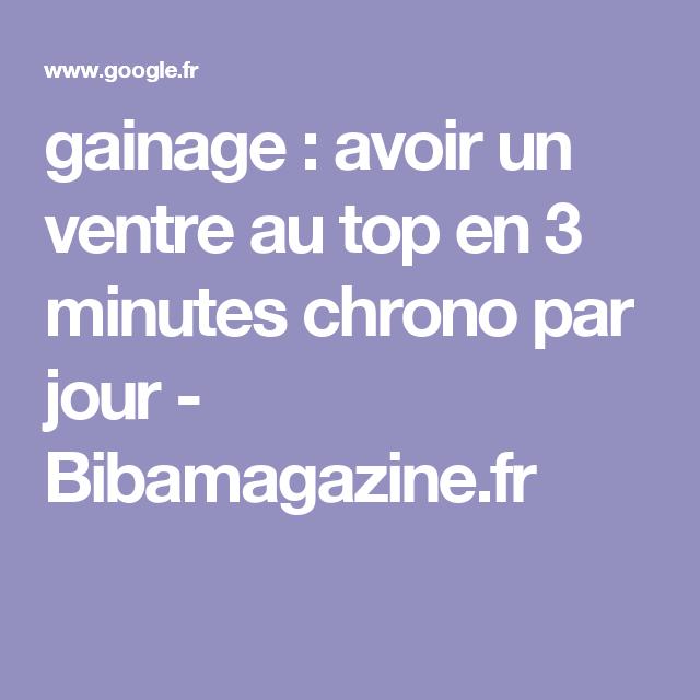 gainage : avoir un ventre au top en 3 minutes chrono par jour - Bibamagazine.fr