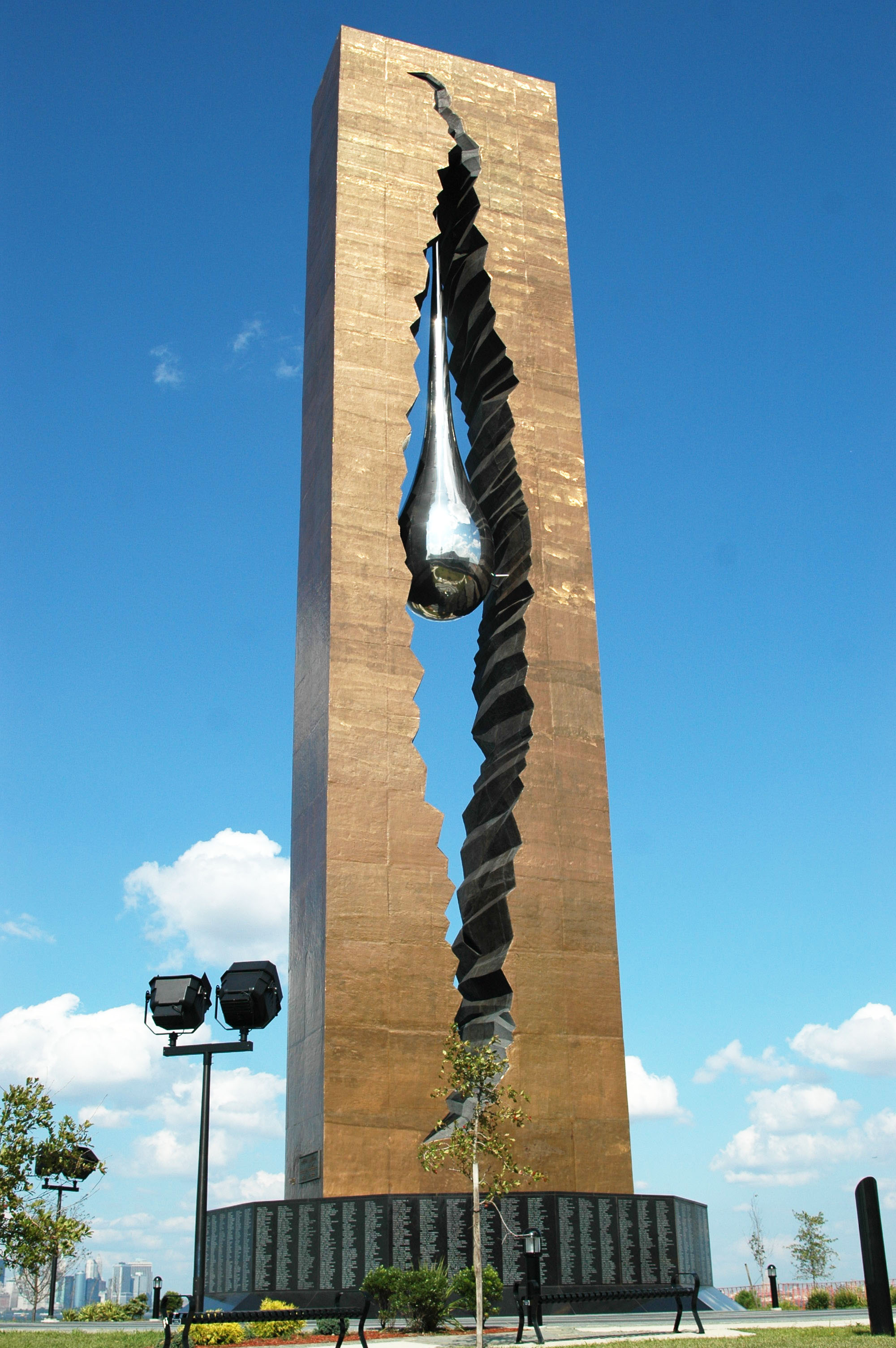 the teardrop monument a 10 story high sculpture given to the usa