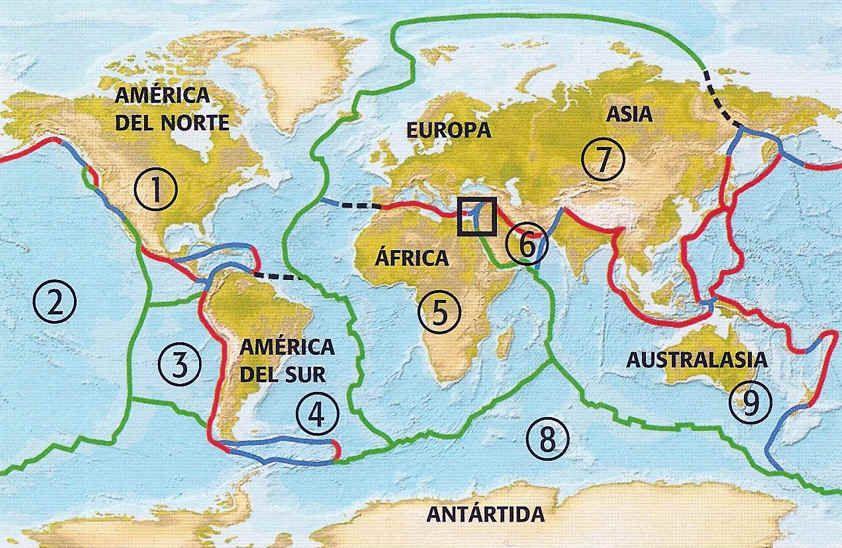 interesante raro e importante: las placas tectonicas