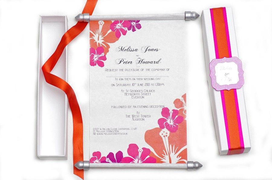 Wedding Invitations Liverpool Scroll Weddding