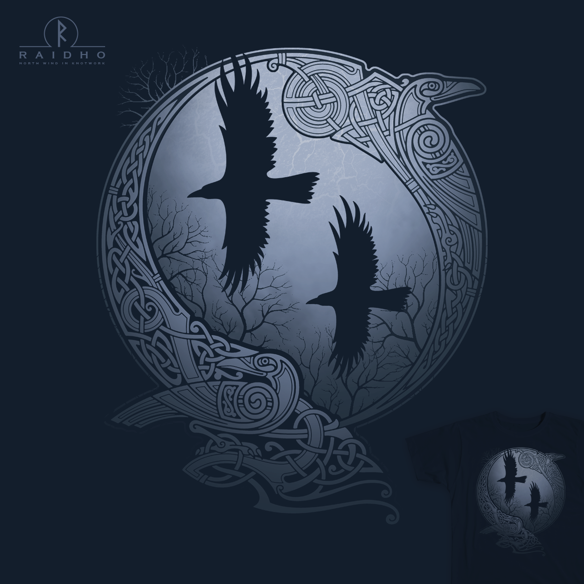 odin 39 s ravens by raidho north wind norse tattoo. Black Bedroom Furniture Sets. Home Design Ideas